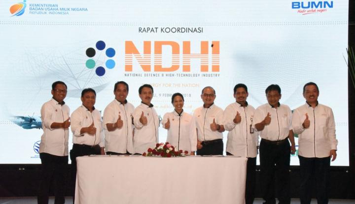 Foto Berita Bersama Menteri Rini, 6 BUMN Industri Strategis Gelar Rakor di Bali