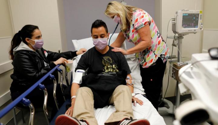 Foto Berita Wabah Flu di AS Memburuk