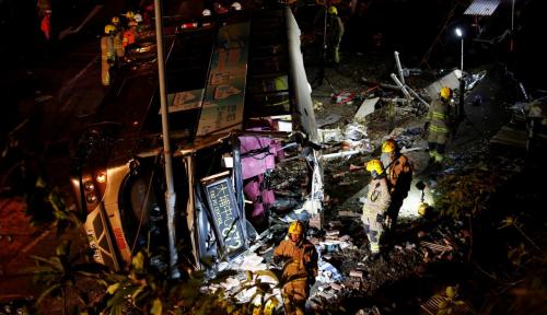 Foto Kecelakaan Bus di Thailand Tewaskan 18 Orang