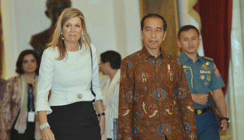 Foto Ratu Belanda Pembawa Misi PBB Kunjungi Istana Merdeka