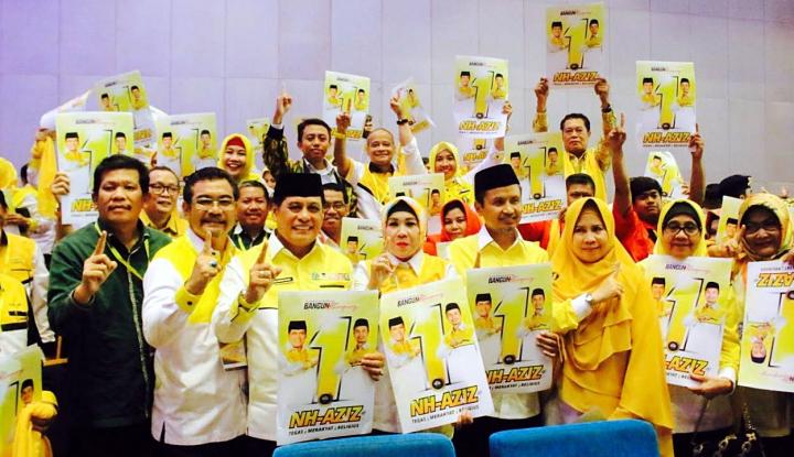Foto Berita Doa Terkabul, NH-Aziz Dapat Nomor 1 di Pilgub Sulsel
