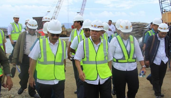 Foto Berita KemenPUPR Kebut Pembangunan Bendungan Kuwil