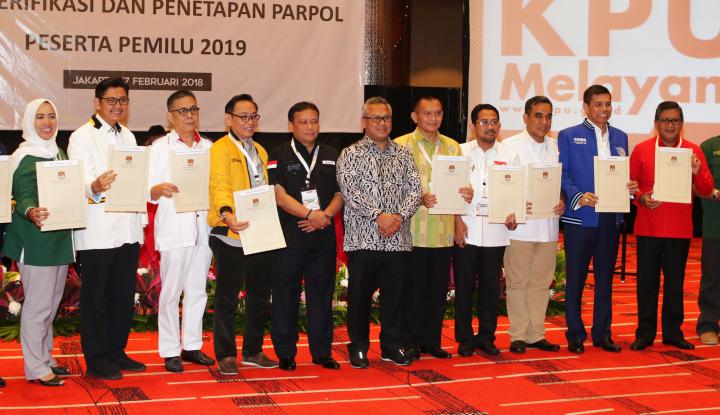 Foto Berita 14 Parpol Jadi Peserta Pemilu 2019