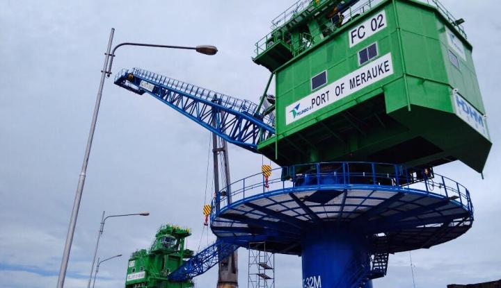Foto Berita Pelindo IV Datangkan Dua Fix Crane untuk Merauke