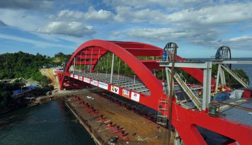 Foto Jembatan Muara Teweh-Jengeh Ditargetkan Berfungi Akhir 2019
