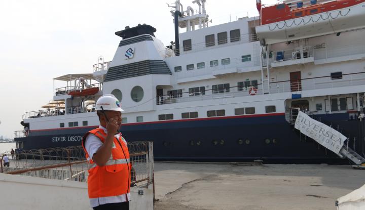Foto Berita Kapal Pesiar Silver Discoverer Berlabuh di Pelabuhan Belawan