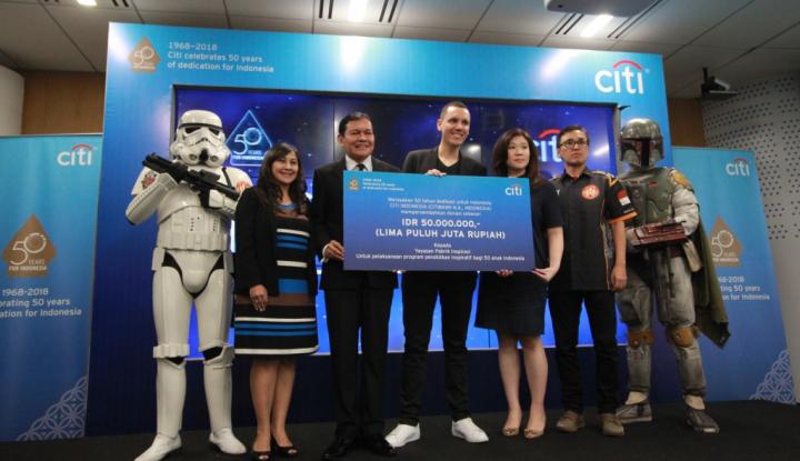 Foto Berita Citi Indonesia Donasikan Rp50 Juta untuk Program Pendidikan Inspiratif