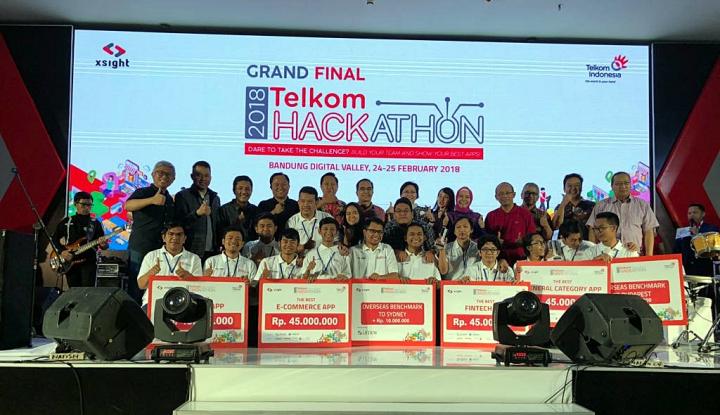 Foto Berita Telkom Hackathon 2018 Lahirkan Empat Tim Terbaik