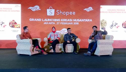 Foto Pemerintah Dukung UMKM Go Digital Melalui Shopee Kreasi Nusantara