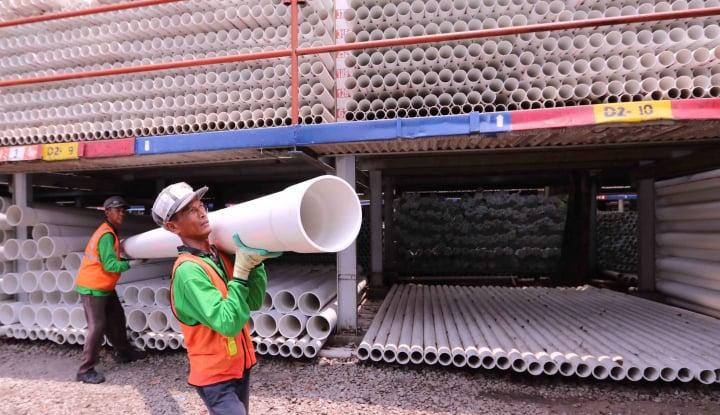 Foto Berita Proyek Infrastruktur Marak, Produsen Pipa Bakal Naikkan Kapasitas
