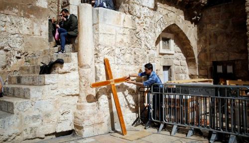 Foto Gereja Katolik Yerusalem Protes UU Negara Bangsa Yahudi
