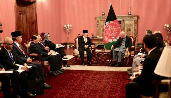 Foto Berita JK: Indonesia Berkontribusi dalam Proses Perdamaian Afghanistan