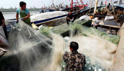 Foto Kebocoran Pipa Pertamina, Buat Ribuan Nelayan Budidaya Rugi