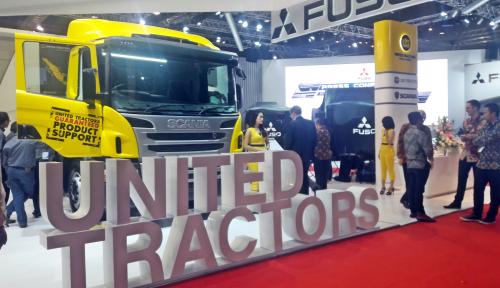 Foto United Tractors Bawa Tiga Produk di GIICOMVEC 2018