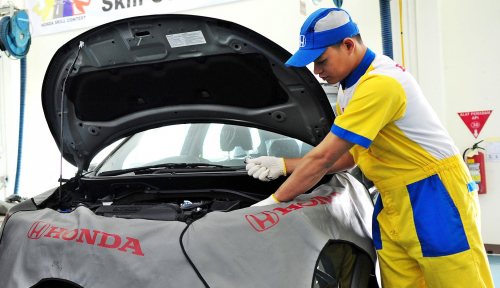 Foto Honda Siapkan 114 Titik Layanan Mudik