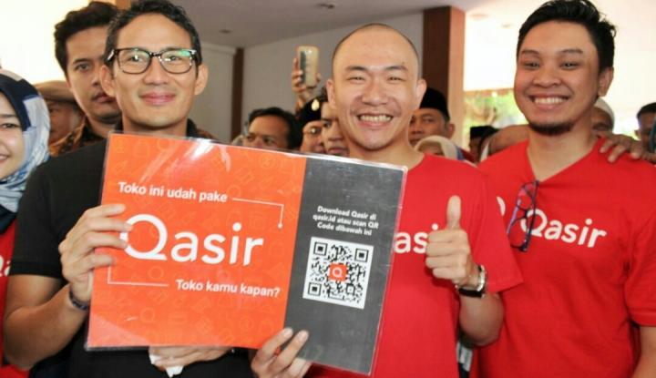 Foto Berita Mudahkan Pembukuan Pedagang, Sandiaga Apresiasi Startup Qasir