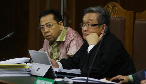 Foto 'Nyanyian' Novanto Seret Anak Megawati dan Anak Buah Jokowi