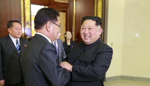 Foto Menanti Pertemuan Presiden Korsel-Korut, Baikan Nih?