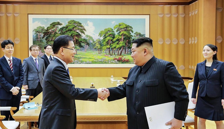 Foto Berita Kim Jong-un Komitmen Soal Upaya Denuklirisasi