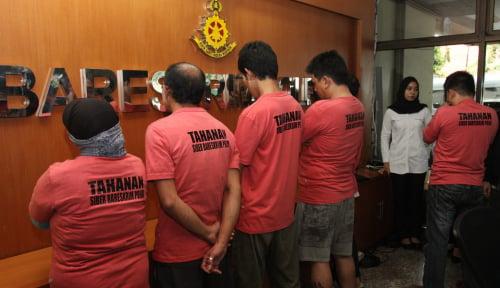 Foto Polisi Tangkap 33 Pelaku Penimbun Masker