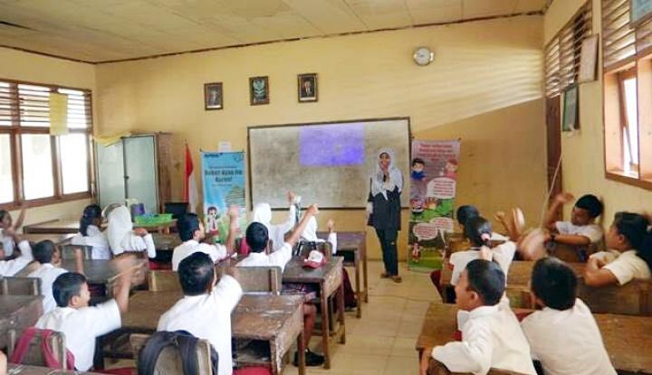 Foto Berita Ketika Pelajar SD Larang Ayah Membakar Hutan