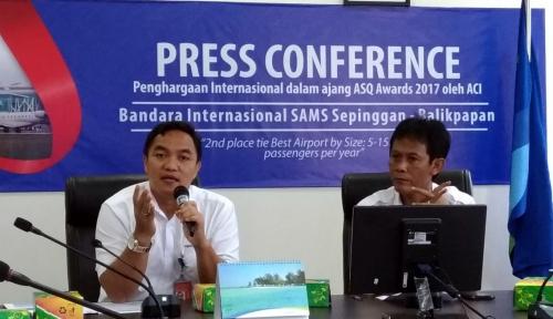 Foto Bandara SAMS Sepinggan Juara 2 Pelayanan Terbaik Internasional