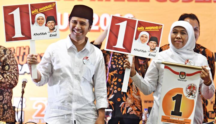 Foto Berita Coblos Ulang, Khofifah-Emil Menang di TPS 49 Surabaya