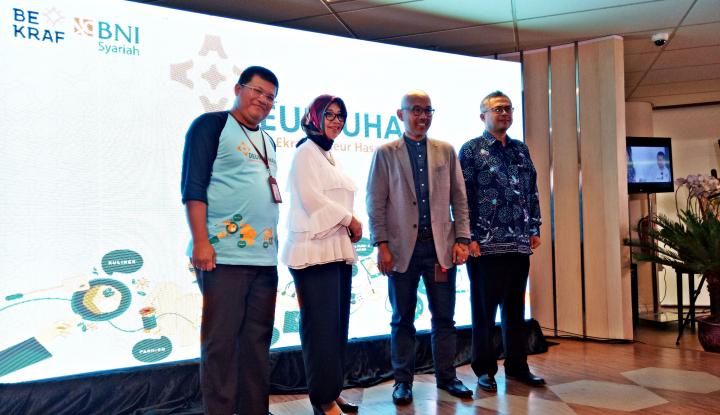 Foto Berita Lakukan MoU, BNI Syariah dan Bekraf Resmi Launching Deureham