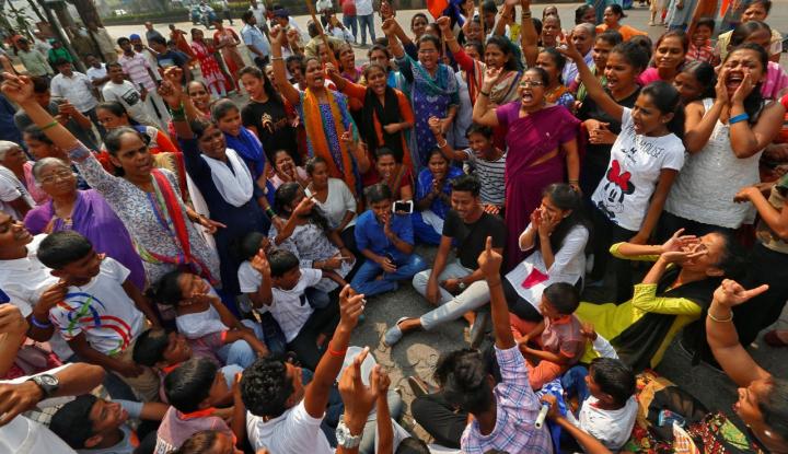 Foto Berita Puluhan Ribu Petani India Jalan Sejauh 180 Km ke Mumbai, Ngapain?