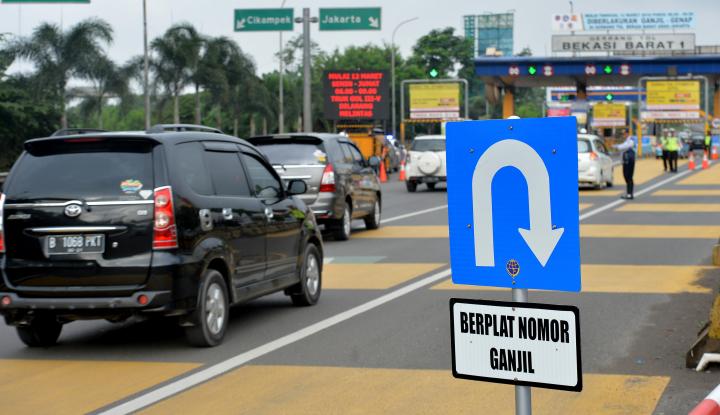 sosialisasi aturan ganjil-genap di jalan tol diperpanjang