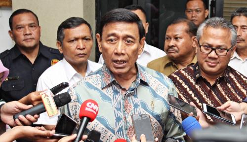 Foto Ditanya Soal Debat Pilpres, Jawaban Wiranto Tegas