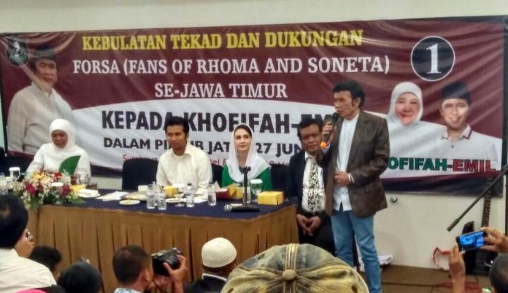 Foto Berita Sah..!! Rombongan Rhoma Irama Merapat ke Khofifah-Emil