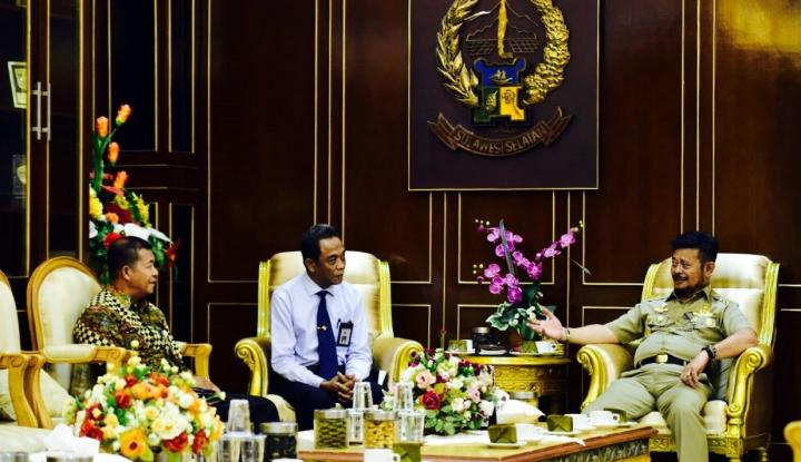 Foto Berita Temui Gubernur Syahrul, Pimpinan BPK Sulsel Bahas Soal Ini...