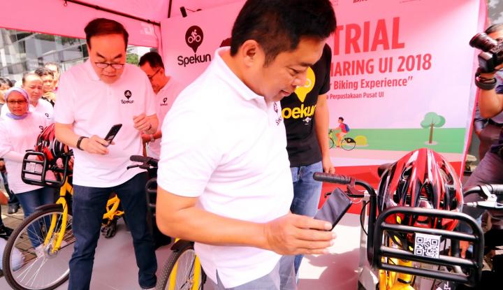 Foto Berita Canggih, Sepeda Kuning di UI Gunakan IoT