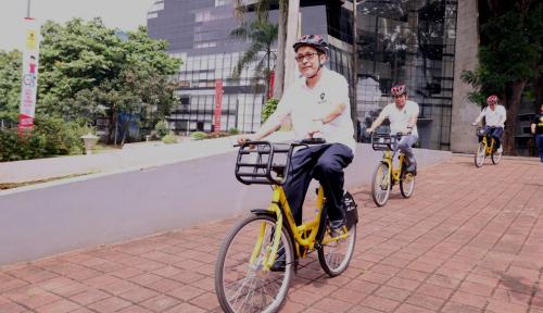 Foto Canggih, Sepeda Kuning di UI Gunakan IoT