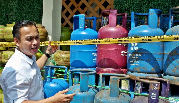 Foto Berita Polisi Tangkap Pelaku Pengoplos Gas LPG 12 kg