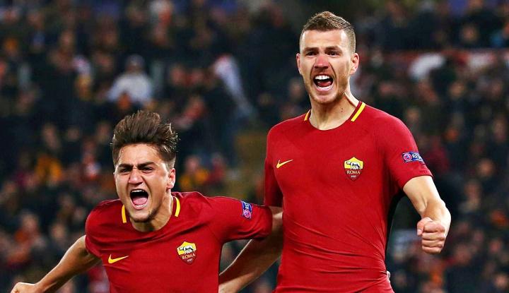gol semata wayang dzeko bawa roma ke perempatfinal liga champions