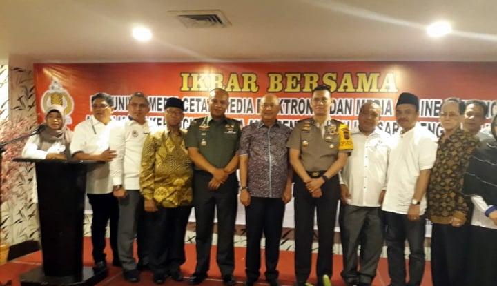 Foto Berita Hindari Berita Hoax, Polrestabes Medan Gelar Ikrar Bersama Media