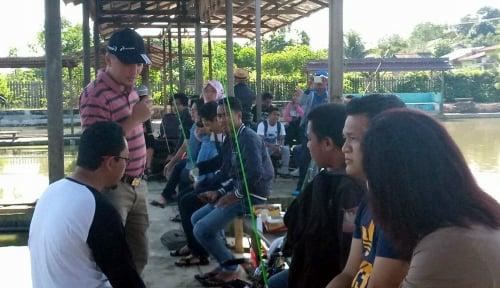 Foto Perkenalkan Bright Gas Camp 220 Gram, Pertamina Mancing Bareng Jurnalis