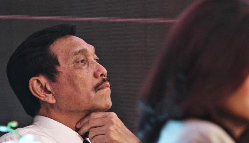 Foto Ditanya Soal Perseteruan Luhut-Amien Rais, Wiranto: No Comment!