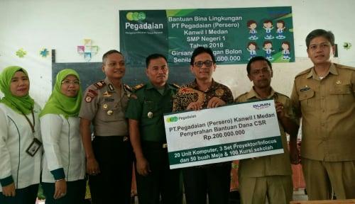 Foto Pegadaian Medan Bantu Sarana Kemajuan Pendidikan di Simalungun
