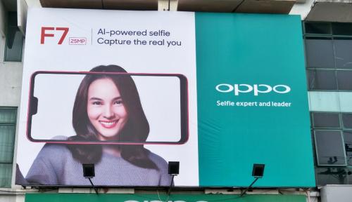 Foto Oppo Konfirmasi Kehadiran F7 Melalui Billboard