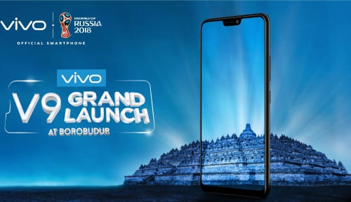 Foto Gebrak Industri Smartphone, Vivo Luncurkan V9 di Candi Borobudur