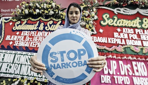 Foto Akibat Narkoba, Negara Rugi Rp74 Triliun