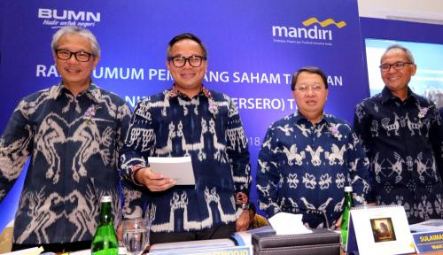 Foto Bank Mandiri Angkat Empat Direksi Baru