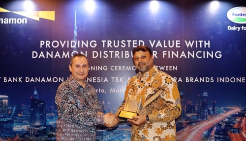 Foto Bank Danamon-Fonterra Brands Indonesia Kerja Sama Layanan Financial Supply Chain