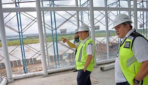 Foto Terminal Baru Bandara Ahmad Yani Dipastikan Beroperasi Sebelum Lebaran