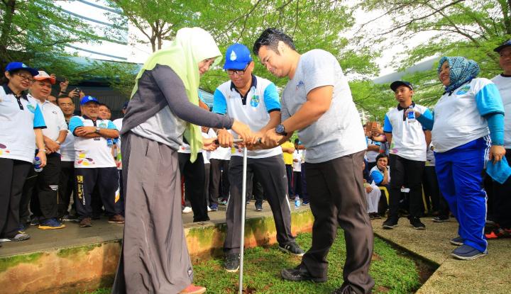 Foto Berita Hari Air Dunia, Menteri Basuki Kampanyekan Biopori dan PAH
