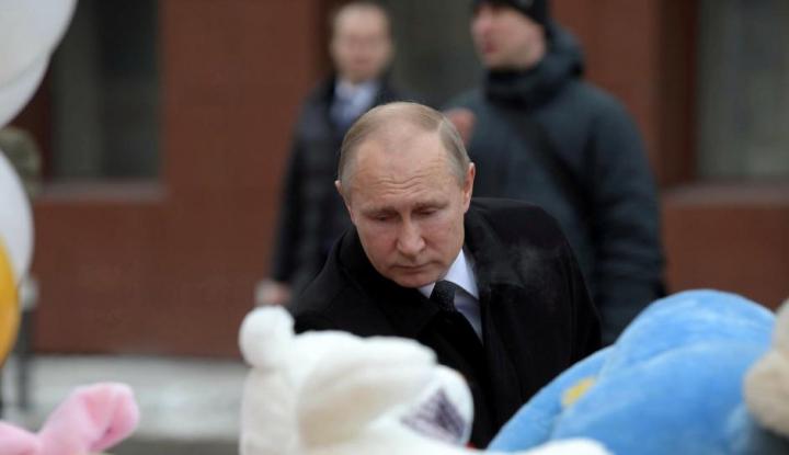 Foto Berita Putin Pantau Timnas Rusia lewat Televisi