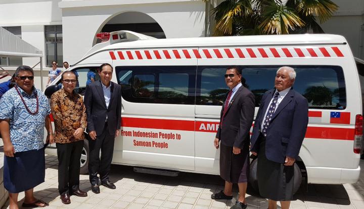 Foto Berita Peduli Samoa, Indonesia Kirim Dua Ambulans
